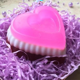 Мыло сувенирное Сердце ажурное ручной работы