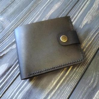 Мужской кожаный кошелек ручной работы
