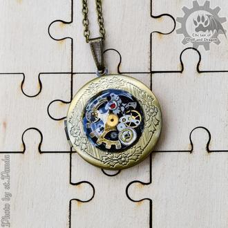 Фото медальон в стиле стимпанк (под заказ)