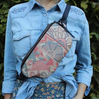 Кожаная поясная сумка Флоренция
