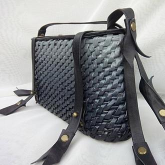 Плетеная сумочка Гретта_Цвет черный градиент