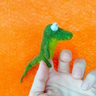 Крокодильчик. Пальчиковая игрушка/брелок