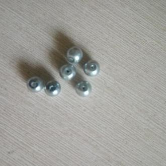бусины серебрянный жемчуг иск.