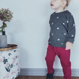 Штаны для детей цвет малиновый