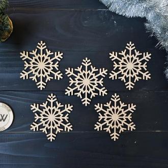 """Новогодние игрушки из дерева """"Снежинки"""""""