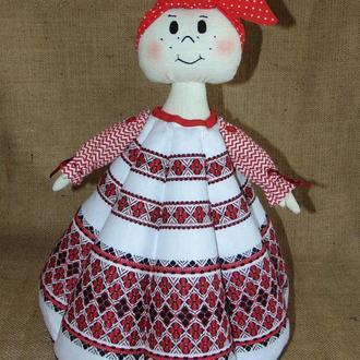 Народна баба-грілка для чайника Єлизавета, авторська ручна робота