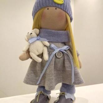 Интерьерная кукла-тыквоголовка