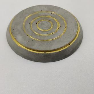 Бетонные подстаканники (подставка под горячее) - серые