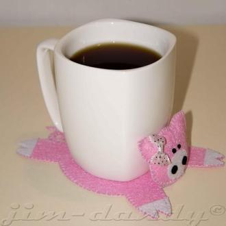 Подставка под чашку из фетра Поросенок Свинка