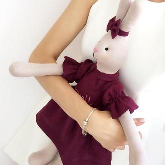 Большая игровая зайка кукла кролик подарок игрушка дочке сыну