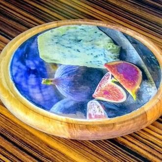 Большая сырная досточка диаметр 30 см