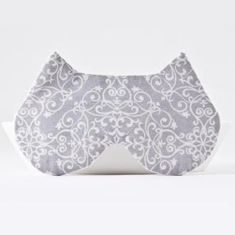 Серая маска для сна кошка, Подарок девушке