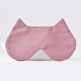 Полосатая маска для сна кошка, Подарок женщине