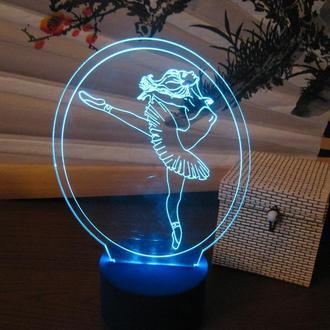 Балерина (танцовщица), ночник светильник настольный, лампа, подарок балерине, девушке