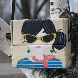 сумка из дерева HELLO