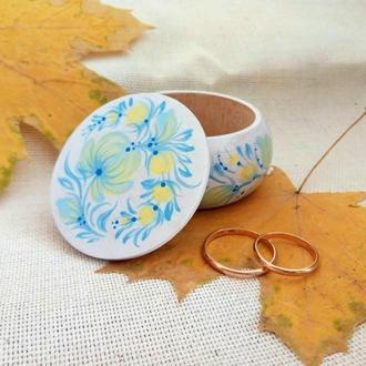 Свадебная шкатулка для обручальных колец