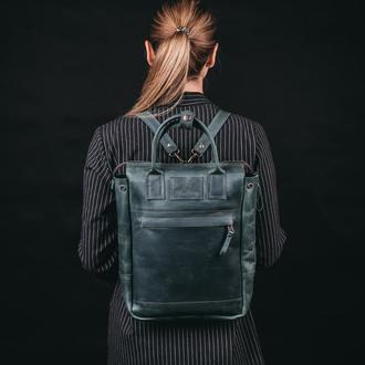 Сумка-рюкзак FOX, сумка ручной работы, городской рюкзак, из натуральной кожи, рюкзак для ноутбука