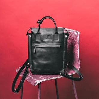 Женская сумка-рюкзак, рюкзак из кожи, городской рюкзак, сумка большая через плечо, шкіряна сумка