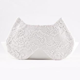 Кружевная маска для сна кошка, Подарок для нее