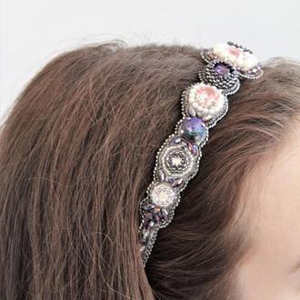 """Диадема (обруч) на голову """"Crystal Rose"""""""