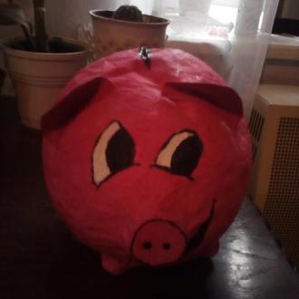 свинья-копилка ручной роботы