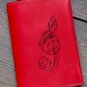 """Обложка на паспорт """"Скрипичный ключ"""""""