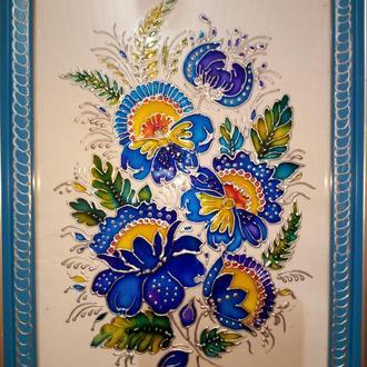 Роспись на стекле витражными красками