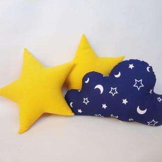 Декоративная подушка звезда из флиса