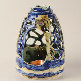 Ночник, светильник для свечи, керамическая аромалампа, подсвечник, аромамасло, подарок