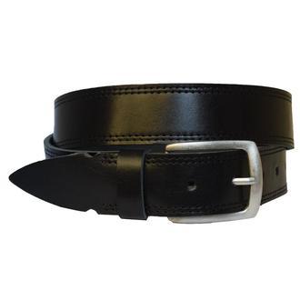 Adriano черный кожаный мужской ремень со строчкой кожанный пояс кожа