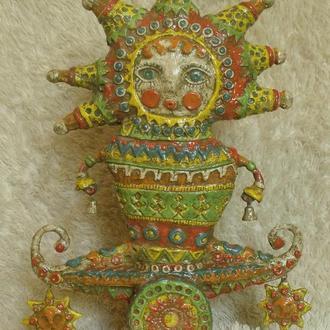 Интерьерная скульптура Солнце (этно стиль)