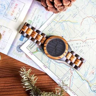 Деревянные часы Арес с гравировкой (Мужские)