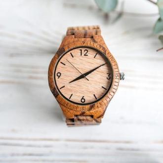 Деревянные часы Орион с гравировкой (мужские)