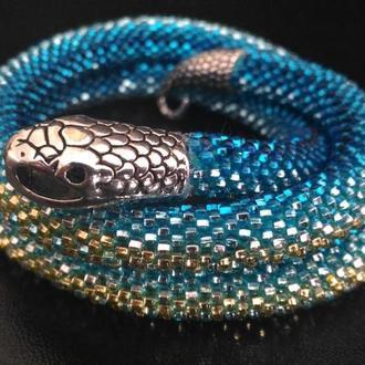 Чокер жгут змея с сережками