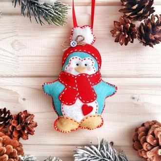 """Новогодняя игрушка """"Пингвинчик"""""""