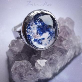 Кольцо космическое, Кольцо Земля, Авторское кольцо, Подарок девушке