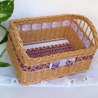 Украинский подарок Украинский стиль Короб для хранения Прямоугольная корзина