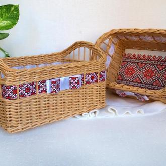 Набор из 2 корзин в украинском стиле Украинский подарок Украинский сувенир
