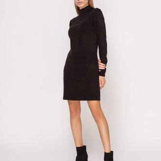 Платье-гольф черное мини