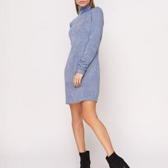 Платье-гольф голубое мини