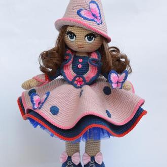 Интерьерная кукла Фея (кукла вязаная крючком)