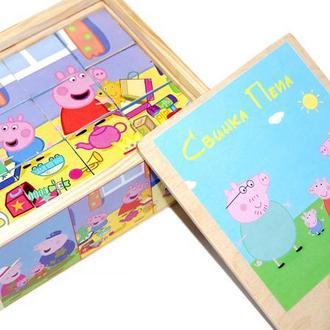 """Дерев'яні кубики """"Свинка Пеппа"""""""