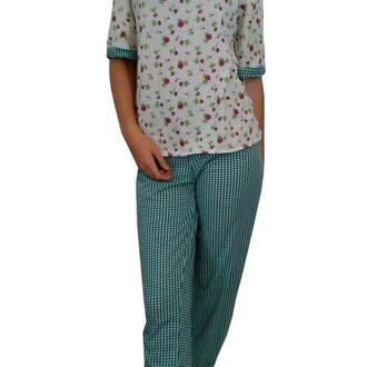 Домашний костюм, длинные штаны и футболка 100 % хлопок, очень стильный вид, р 50