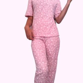 Длинные штаны, нежная пижама, комфортный домашний костюм очень качественый турецкий хлопок р 46-48