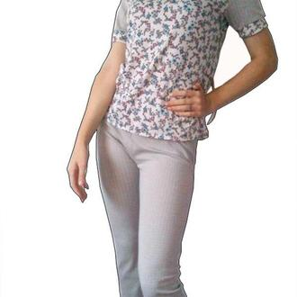Домашний комплект бриджи футболка, пижамка, качественый турецкий хлопок рр 46, рр 44