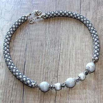 Жемчужный жгут, свадебное ожерелье