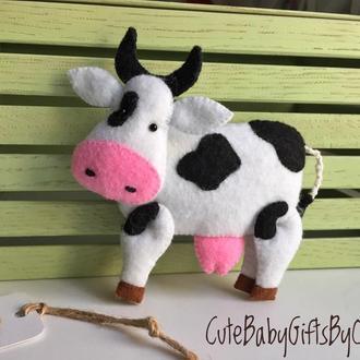 Корова из фетра ( серия Ферма)