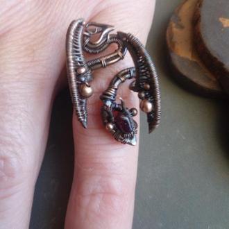 Кольцо дракон // Кольцо из проволоки // Anorsel // Wire wrap кольцо // Artarina // Кольца