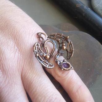 Кольцо.Кольцо из меди.Кольцо дракон.Dragon.Кольцо на палец.Кольцо в подарок.Кольца