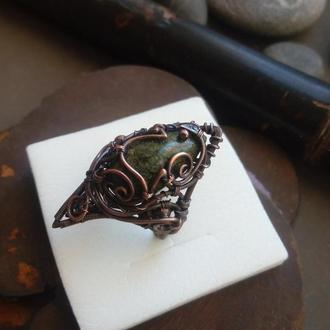 Кольцо магическое // Artarina // Кольцо Wire wrap // Необычное кольцо // Авторское кольцо